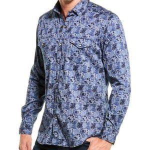 """Robert Graham BNWT """"Schmidt"""" shirt snap button XL"""